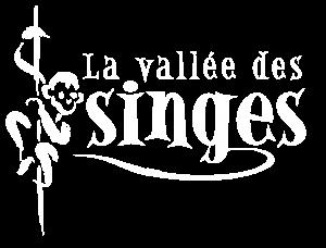 Logo blanc de La Vallée des Singes