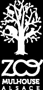 Logo blanc du Zoo de Mulhouse