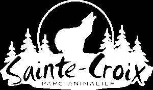 Logo blanc du parc animalier de Sainte-Croix