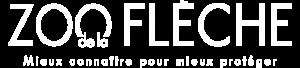 Logo blanc du zoo de la Flèche