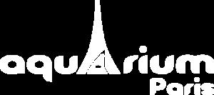 Logo blanc de l'Aquarium de Paris