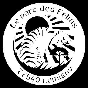 Logo blanc du Parc des Félins