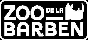 Logo blanc du Zoo de la Barben