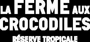 Logo blanc de la Ferme aux Crocodiles