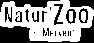 Logo blanc de NaturZoo du Mervent