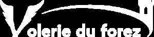 Logo blanc de la Volerie du Forez