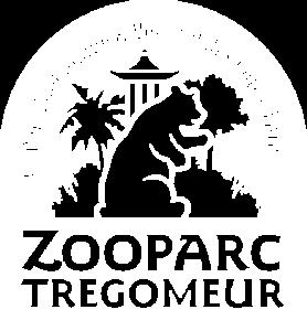 Logo blanc du Zooparc de Trégomeur