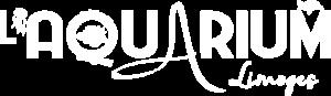 Logo blanc de l'Aquarium du Limousin