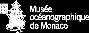 Logo blanc de l'aquarium de Monaco