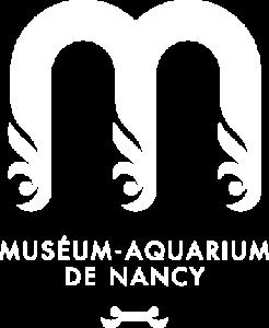 Logo blanc de l'Aquarium de Nancy