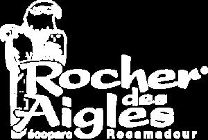 Logo blanc du Rocher des Aigles