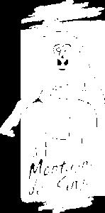 Logo blanc de la Montagne des singes