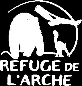 Logo blanc du Refuge de l'Arche
